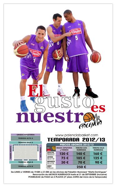 Cartel de la campaña de socios de Palencia Baloncesto