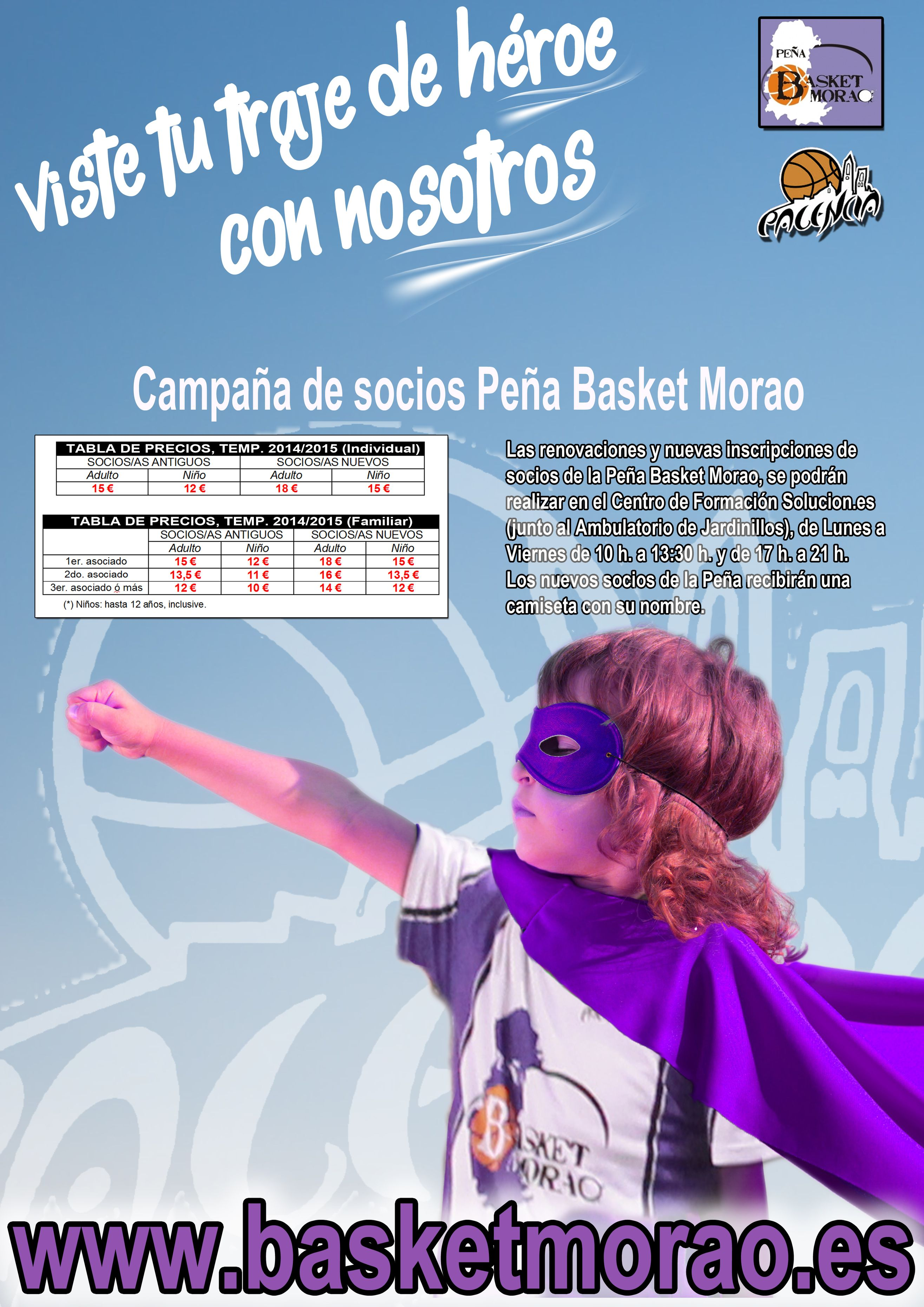 cartel socios basket morao 2014 2015
