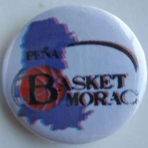 Chapa pequeña de la Peña Basket Morao