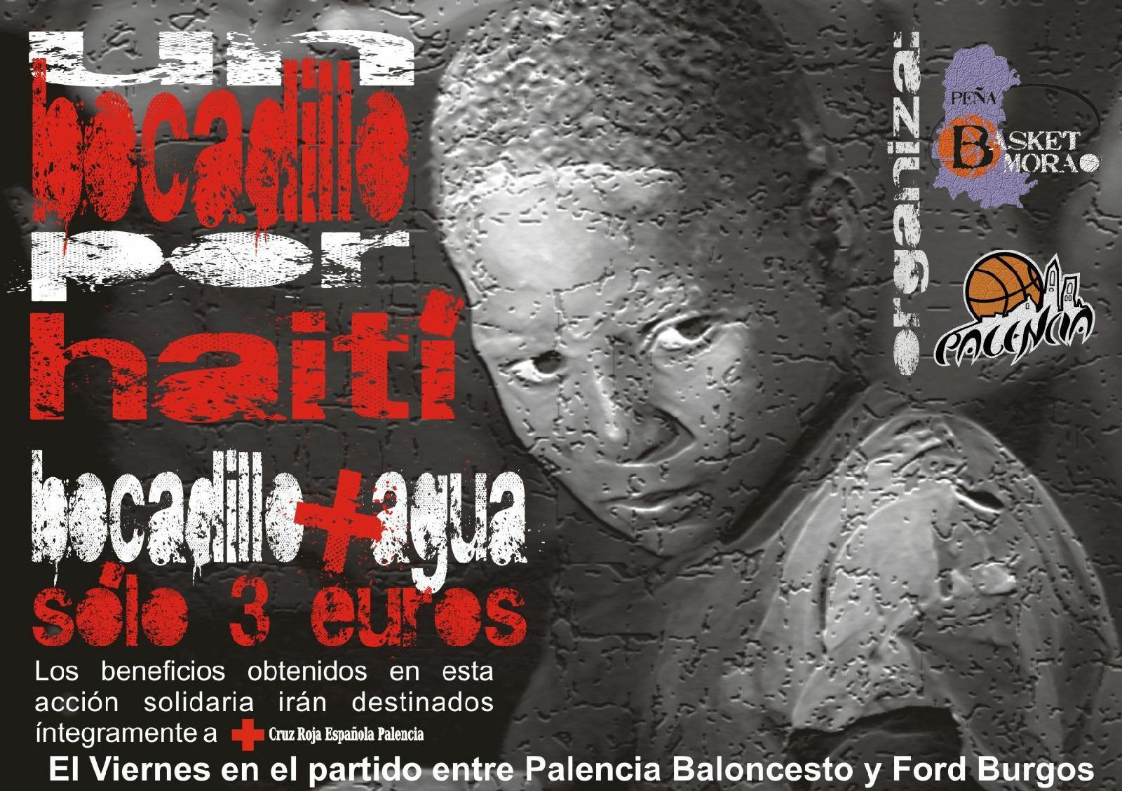 Cartel de la iniciativa solidaria, un bocadillo por Haití